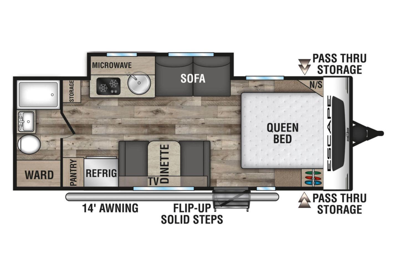 2021 KZ Escape E211RB Floorplan