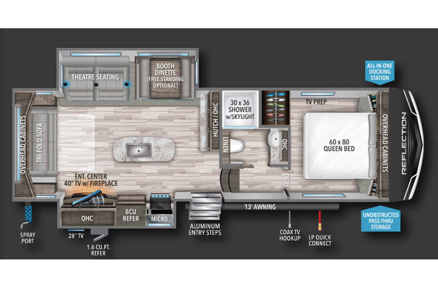 2021 Grand Design Reflection 150 Series 280RS Floorplan