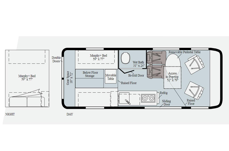 2021 Winnebago Solis 59PX Floorplan