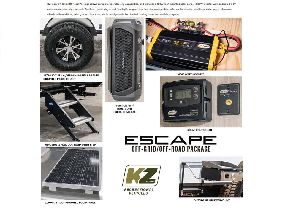 2021 KZ Escape E17 Hatch OFF GRID