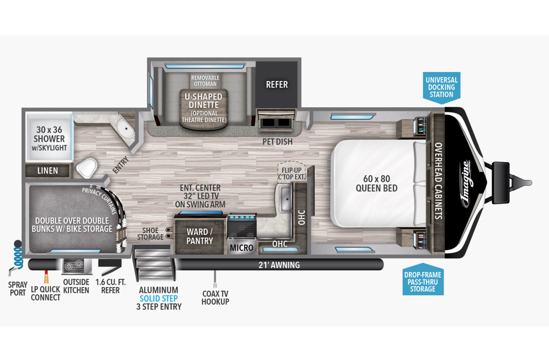 2021 Grand Design Imagine 2400BH Floorplan