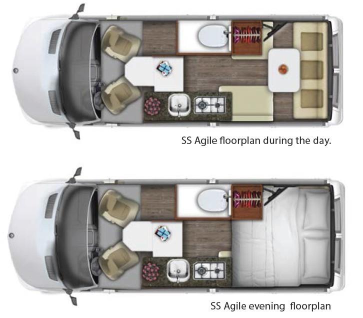 2021 Roadtrek SS Agile 4X4  Floorplan