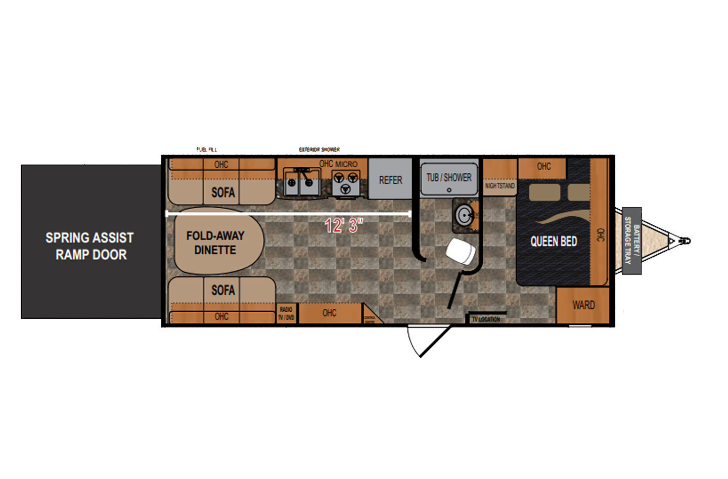 2015 Jayco  White Hawk 27DSRL Floorplan
