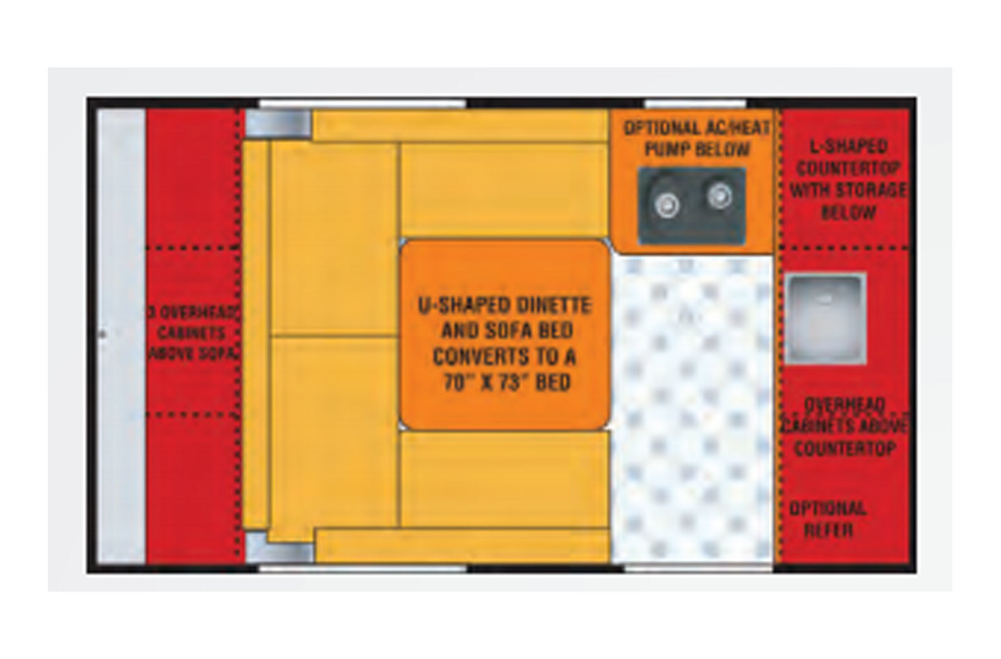 2021 Jayco Jay Flight SLX-7 145RB Baja Floorplan