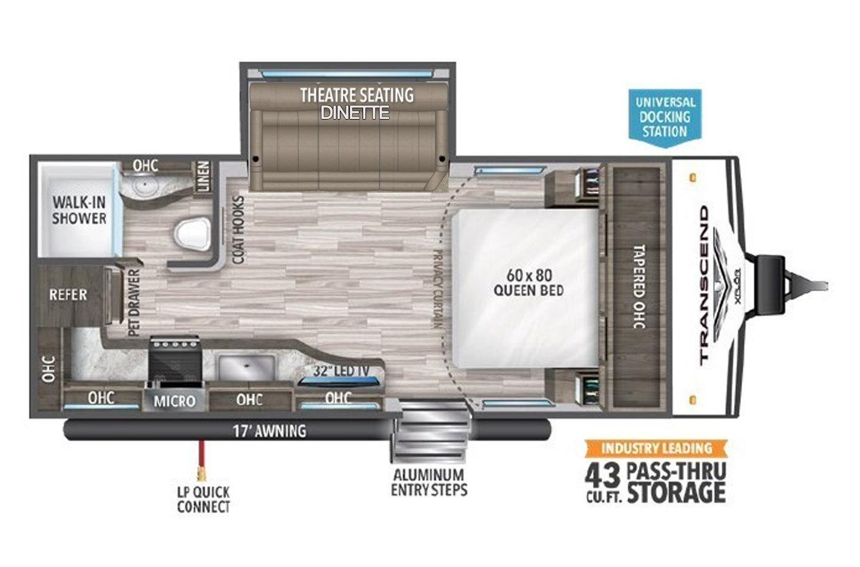 2021 Grand Design Transcend Xplor 200MK Floorplan