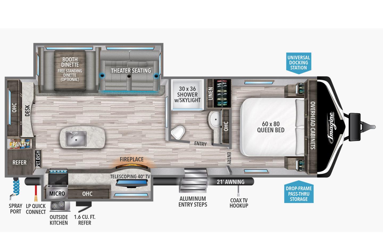 2021 Grand Design Imagine 2670MK Floorplan