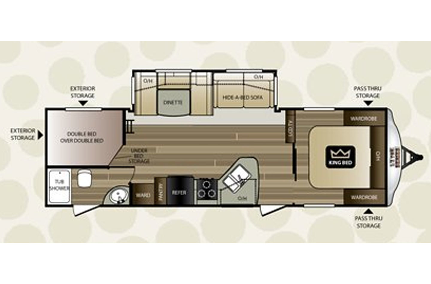 2021 Jayco Jay Flight SLX 224BHW Floorplan