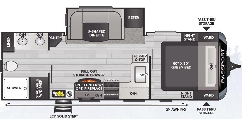 2021 Keystone Passport GT 2400RBWE Floorplan