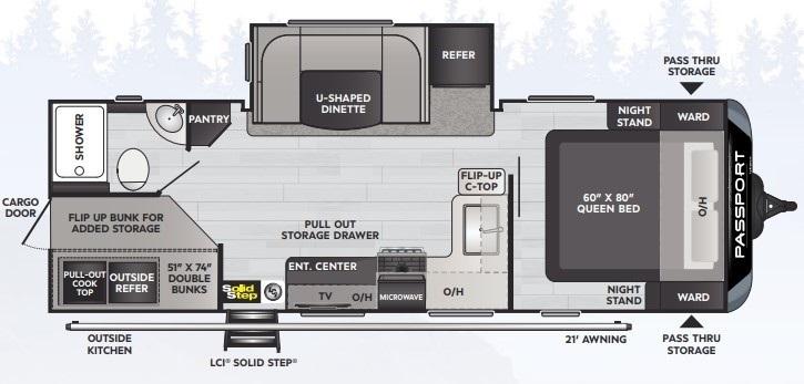 2021 Keystone Passport GT 2401BHWE Floorplan