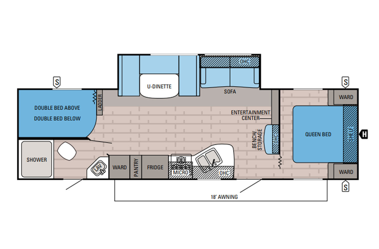2016 Jayco Jay Flight SLX 287BHSW Floorplan