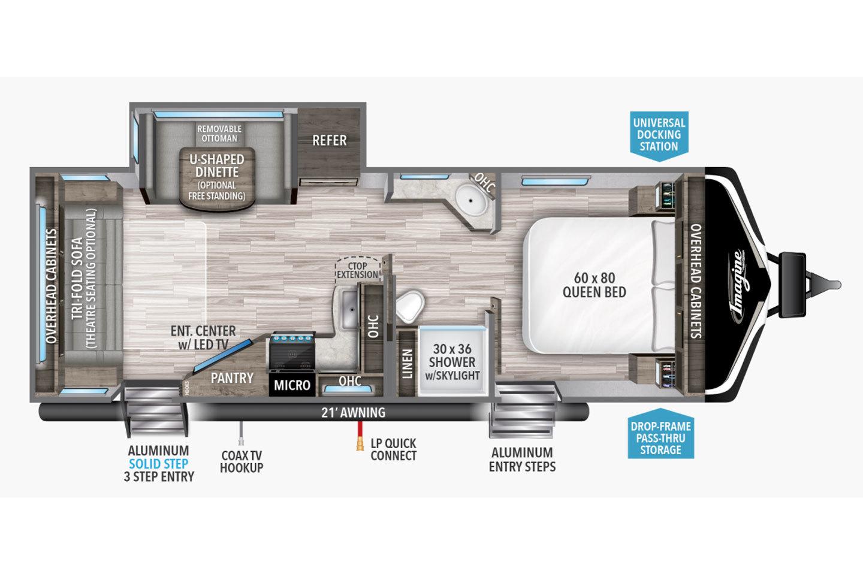 2021 Grand Design Imagine 2500RL Floorplan