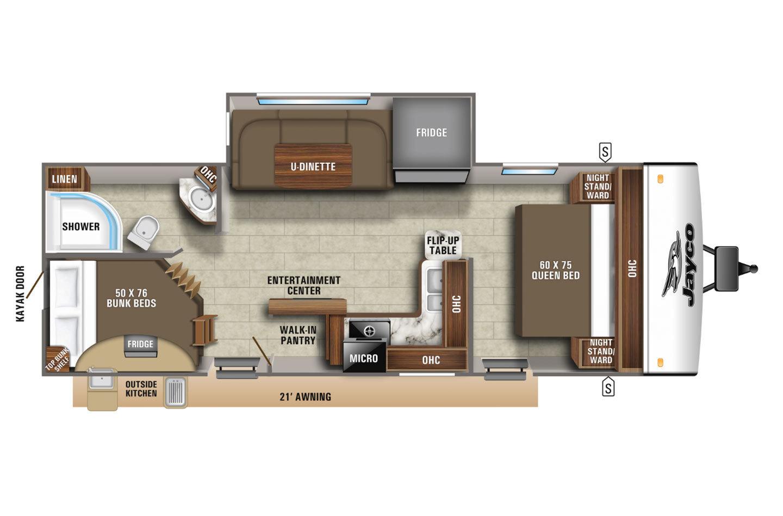 2021 Jayco Jay Feather 24BH Floorplan