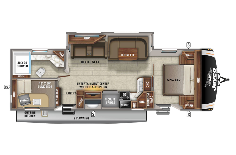 2021 Jayco Eagle HT 284BHOK Floorplan