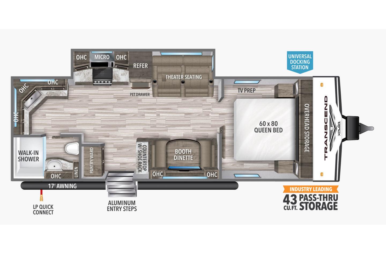 2021 Grand Design Transcend Xplor 240ML Floorplan