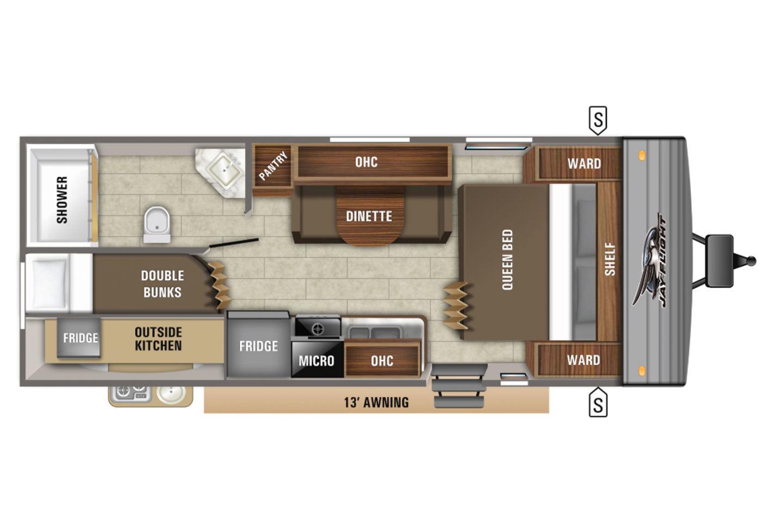 2021 Jayco Jay Flight 224BHW Rocky Mountain Floorplan