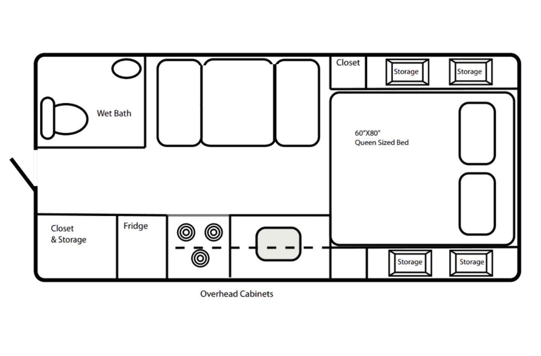 2021 Northern Lite 8.11 EX Wet Bath Limited Edition Floorplan