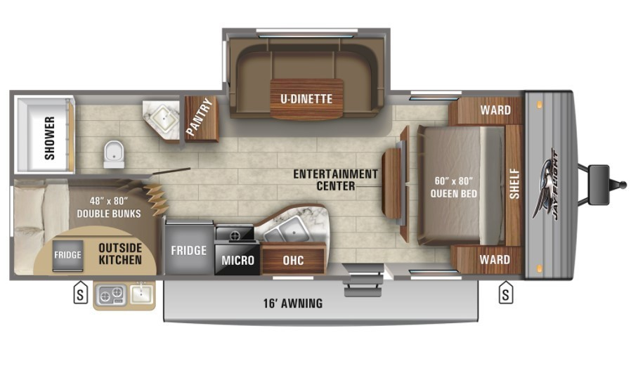 2021 Jayco Jay Flight 224BHW Baja Rocky Mountain Floorplan