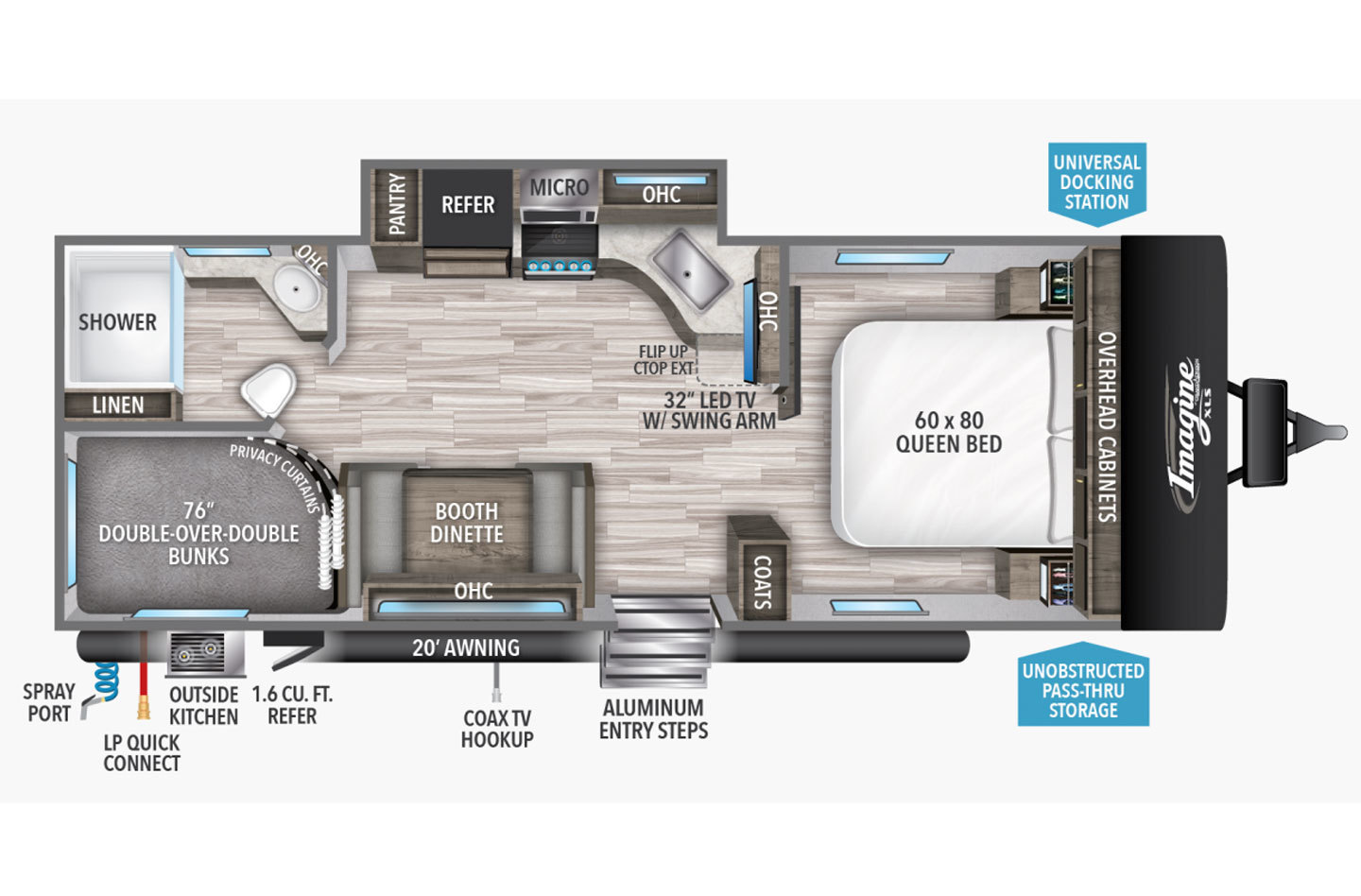 2022 Grand Design Imagine 2800BH Floorplan