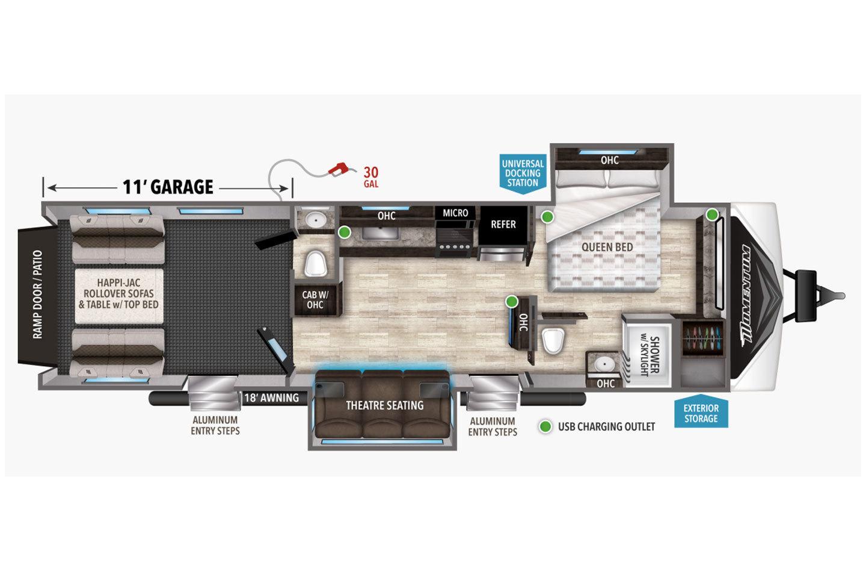 2021 Grand Design Momentum G-Class 29G Floorplan