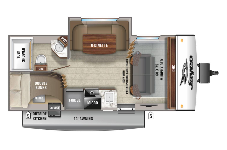 2021 Jayco Jay Feather Micro 199MBS Floorplan