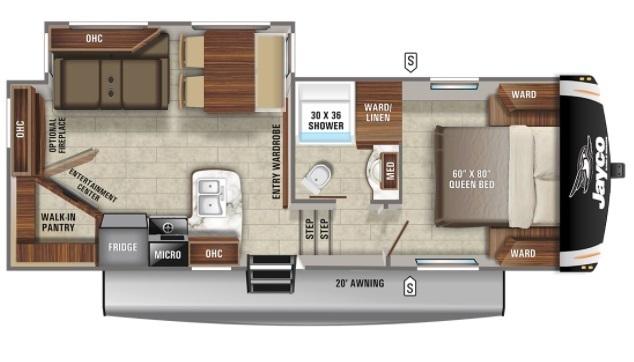 2021 Jayco Eagle HT 24RE Floorplan