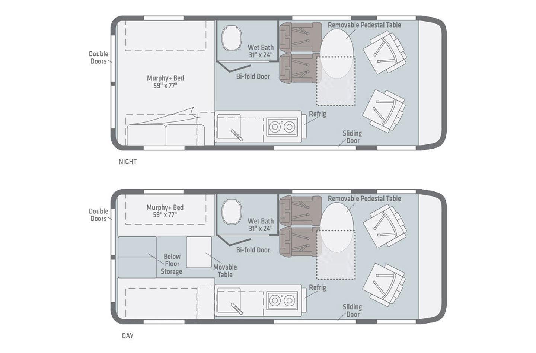 2022 Winnebago Solis 59P Floorplan
