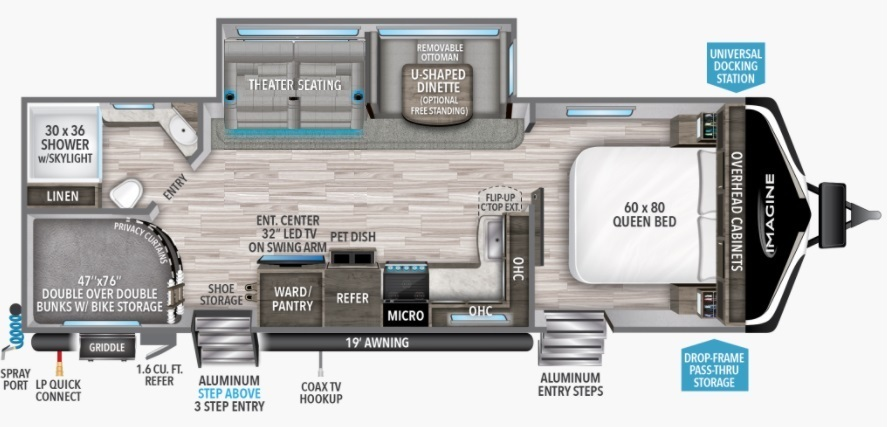 2021 Grand Design Imagine 2800BH Floorplan