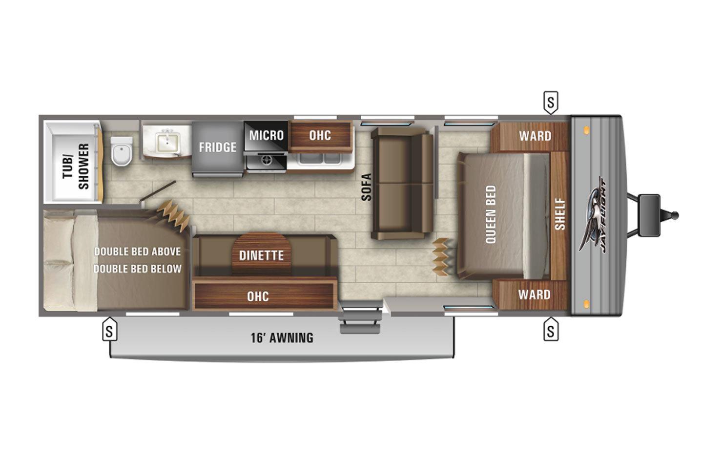 2021 Jayco Jay Flight Rocky Mountain 264BHW Baja Floorplan