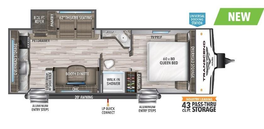 2022 Grand Design Transcend Xplor 231RK Floorplan