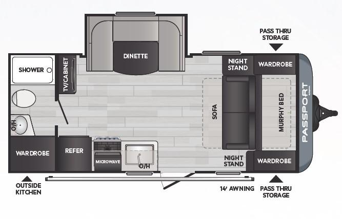 2021 Keystone Passport SL 189RBWE Floorplan
