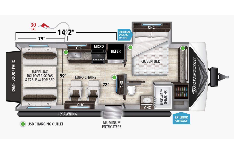 2022 Grand Design Momentum G-Class 21G Floorplan