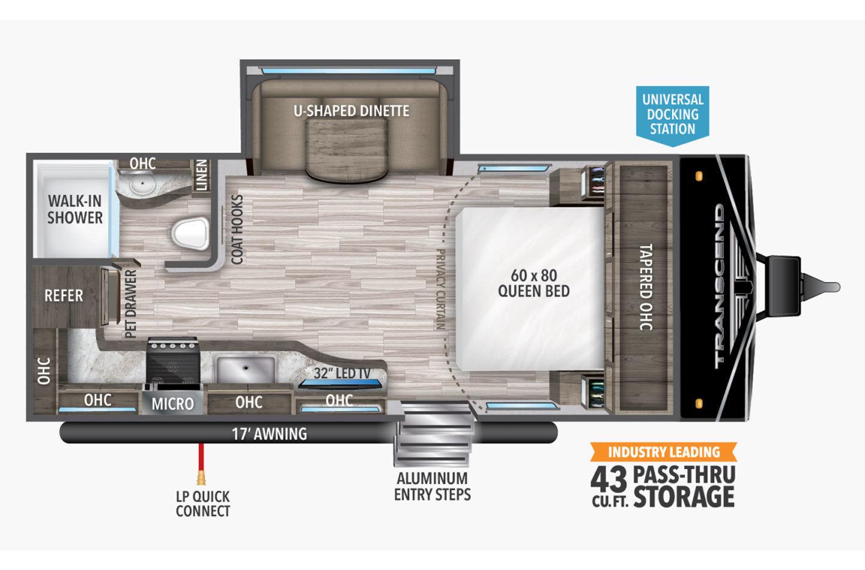 2022 Grand Design Transcend Xplor 200MK Floorplan