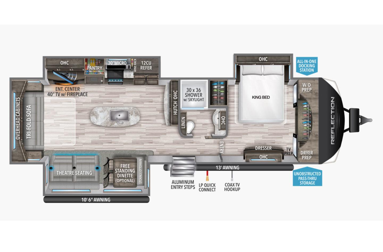 2021 Grand Design Reflection 315RLTS Floorplan
