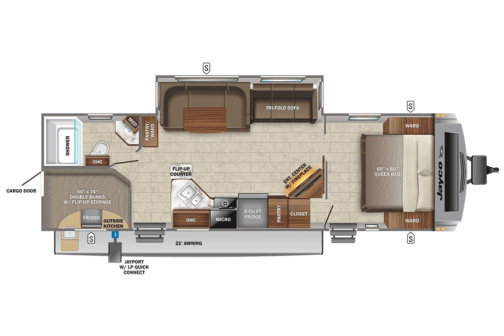 2021 Jayco White Hawk 29BH Floorplan