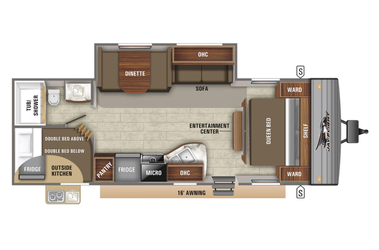 2021 Jayco Jay Flight Rocky Mountain 267BHSW Baja Floorplan
