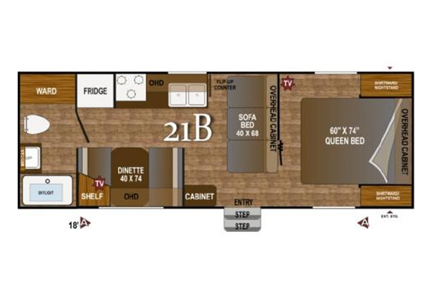 2021 Jayco Jay Flight SLX-7 183RB Floorplan