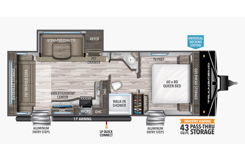 2021 Grand Design Transcend Xplor 245RL Floorplan
