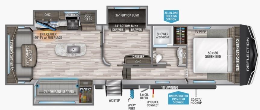 2022 Grand Design Reflection 31MB Floorplan