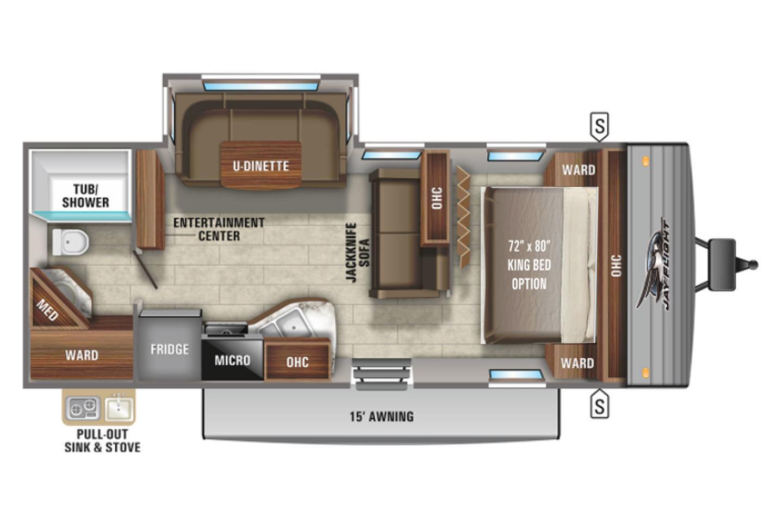 2022 Jayco Jay Flight  24RBS Elite GL Floorplan