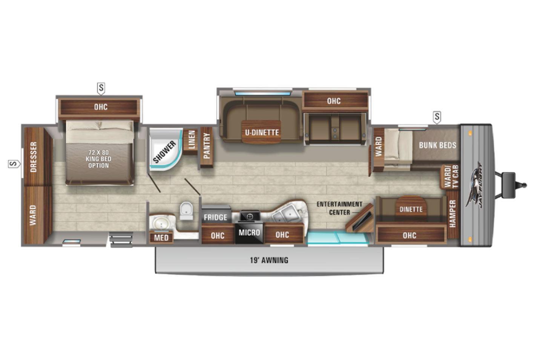 2022 Jayco Jay Flight 38BHDS Elite GL Floorplan