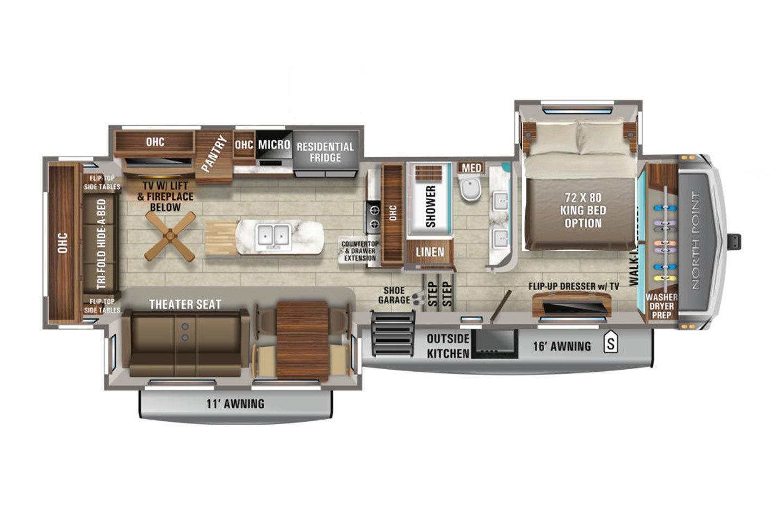 2022 Jayco North Point 340CKTS Floorplan