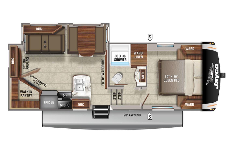 2022 Jayco Eagle HT 24RE Floorplan