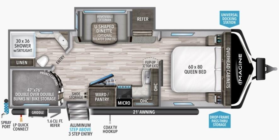 2022 Grand Design Imagine 2400BH Floorplan