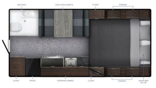 2021 Northern Lite 9.6 Queen Classic Limited Edition Floorplan