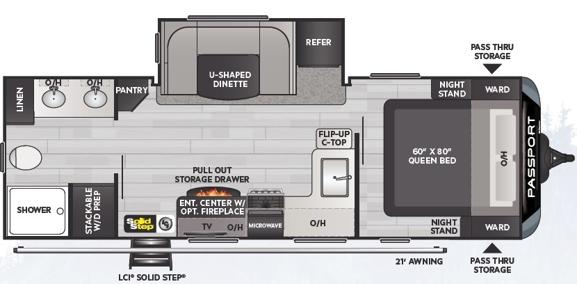 2021 Keystone Passport GT 2400RBWE Floorplan