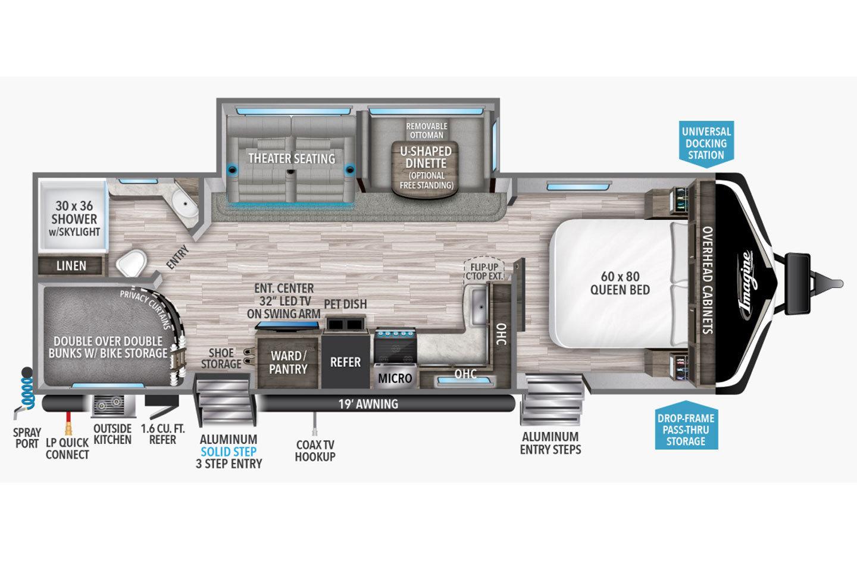 2022 Grand Design Imagine 2800BH Floorplan