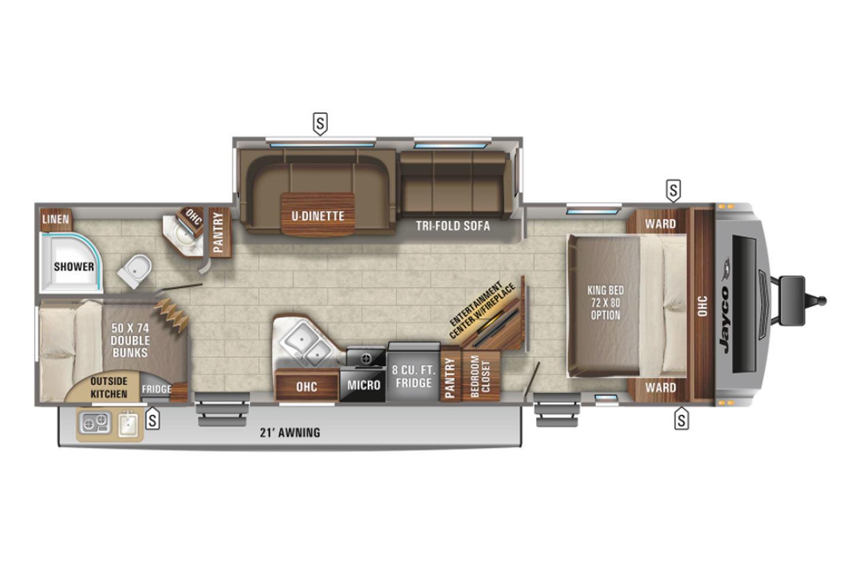 2022 Jayco White Hawk 29BH Floorplan