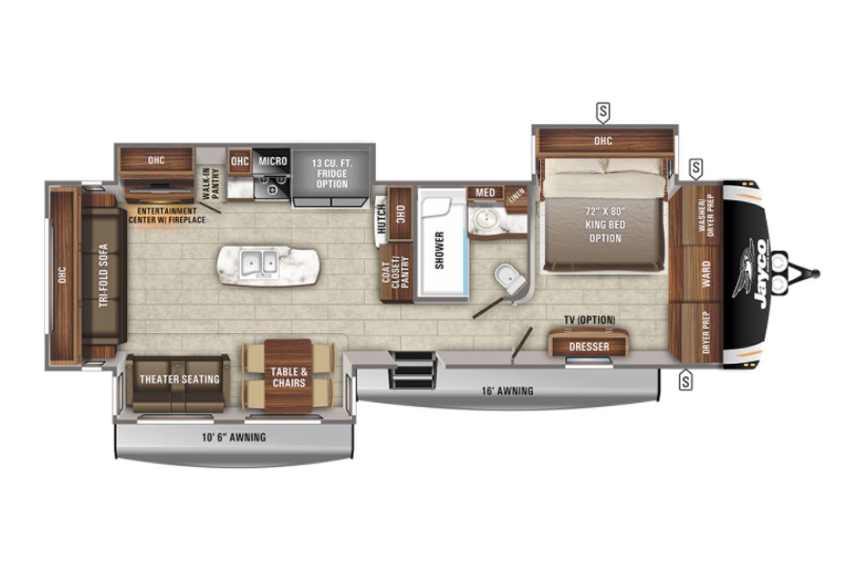 2022 Jayco Eagle 330RSTS Floorplan