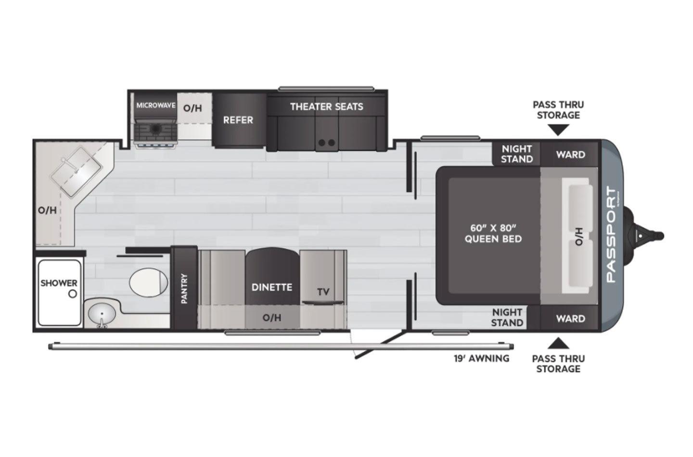 2021 Keystone Passport SL 229RKWE Floorplan