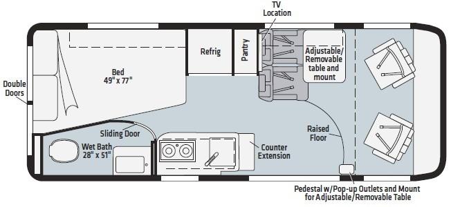 2022 Winnebago Travato 59G Floorplan